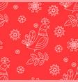 folk red decorative folk ornament seamless pattern vector image vector image