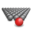 Follow the leader Unique red ball image vector image vector image