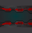 geometric background red and black color for vector image vector image