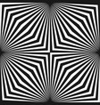 geometric pattern with black white striped lines vector image vector image