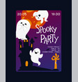 ghost cartoon scary spooky ghosted vector image vector image