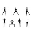 girl dioing exercise on white background vector image vector image