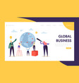 global business opportunity character landing page vector image vector image