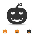 Halloween pumpkin icon scary face for party