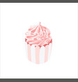 Hand-drawn sweet cupcake muffin isolated