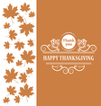 Happy Thanksgiving Vintage calligraphic elements vector image vector image
