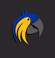 head parrot image design template vector image