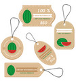 labels with various fruitsfor watermelon vector image