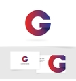 Letter G logo element abstract geometric vector image vector image