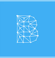 logo letter b dots lines vector image