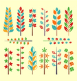 Maple Leaf Ornament Collection vector image vector image