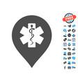medicine marker icon with free bonus vector image vector image