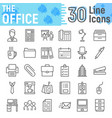 office line icon set business symbols collection vector image vector image