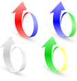 origami set arrow paper vector image vector image