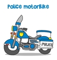 police motor vector image