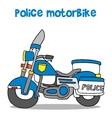 police motor vector image