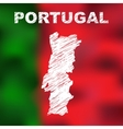 Portuguese Abstract Map vector image vector image