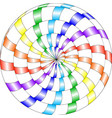 psychedelic pattern snail multi-colored spiral vector image