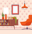 retro interior with chair frames for copyspace vector image vector image