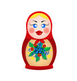 russian dolls icons vector image vector image