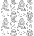 seamless pattern with little princess mermaid vector image vector image