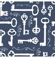 Seamless pattern with vintage keys vector image vector image