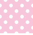 Seamless pattern with white polka dots on pink vector | Price: 1 Credit (USD $1)