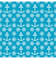 seamless sea pattern with anchors hand wheels vector image vector image