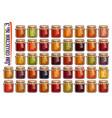 set different jam jars vector image vector image