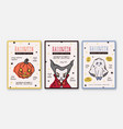 set halloween celebration party invitation vector image