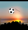 sochi skyline with football ball vector image