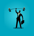 strong businessman vector image
