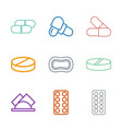 stylized icons vector image vector image