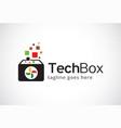 tech box logo template design vector image
