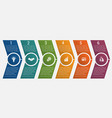 timeline arrows six positions vector image