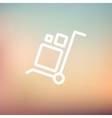 Trolley with boxes thin line icon vector image vector image