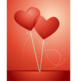 Valentines candy lollipops vector image