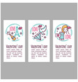 valentines day icons stamp sticker label baner vector image vector image
