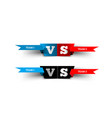 versus design on white blue team versus red team vector image