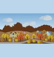 village autumn landscape scene vector image