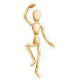 wooden man dancing vector image