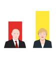 world leaders theme vector image