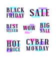 set of sale discount badges labels emblems vector image