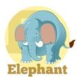 abc cartoon elephant4 vector image vector image