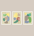 abstract art set with watercolor elements vector image