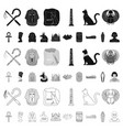 ancient egypt cartoon icons in set collection for vector image vector image