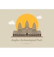 Angkor Wat Temple Siem reap Cambodia eps10 vec vector image vector image