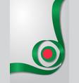bangladeshi flag wavy background vector image vector image