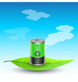 battery on leave vector image vector image