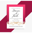 beautiful floral wedding card design vector image